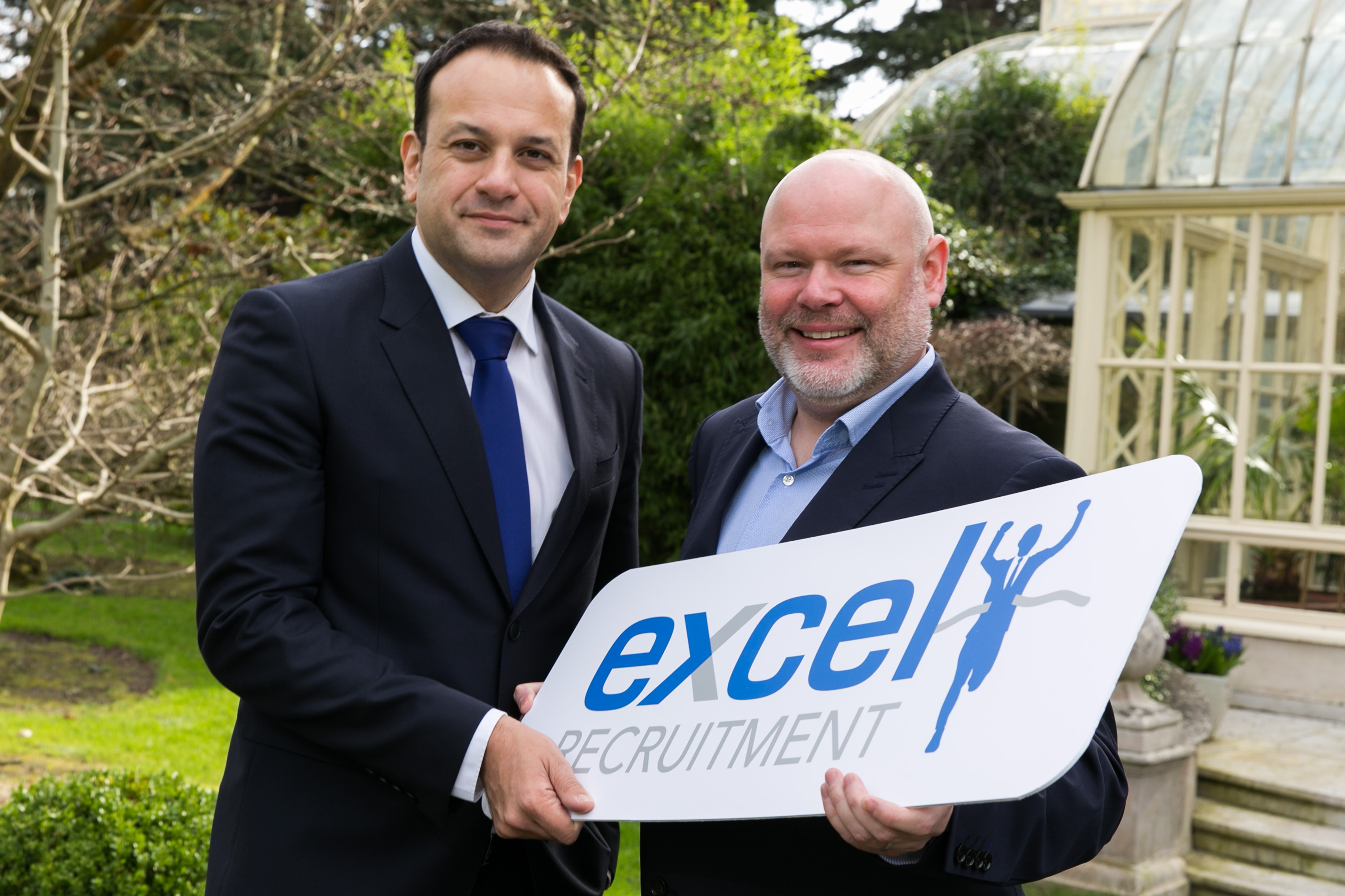 Feeding Ireland's Future 2017.  Pictured is Minister for Social Protection, Leo Minister Varadkar, T.D. and Barry Whelan, Excel Recruitment. Picture by Shane O'Neill Photography.