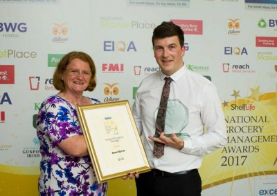 Dean Byrne, Protein/Provision Manager of the Year