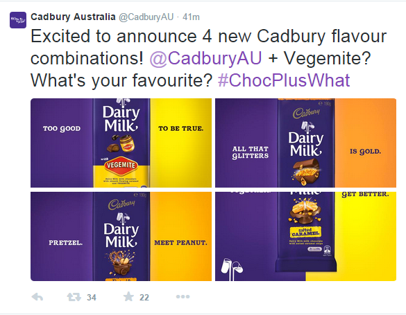 cadburys announce vegemite bar