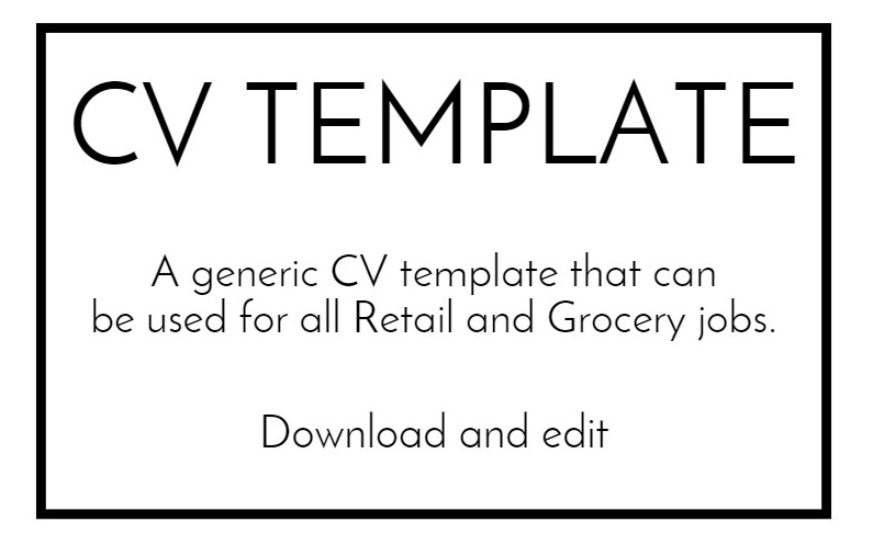 sample cv template